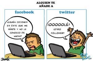 Diferencias Facebook y Twitter
